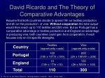 david ricardo and the theory of comparative advantages10