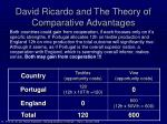 david ricardo and the theory of comparative advantages11