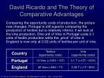 david ricardo and the theory of comparative advantages9