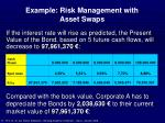 example risk management with asset swaps