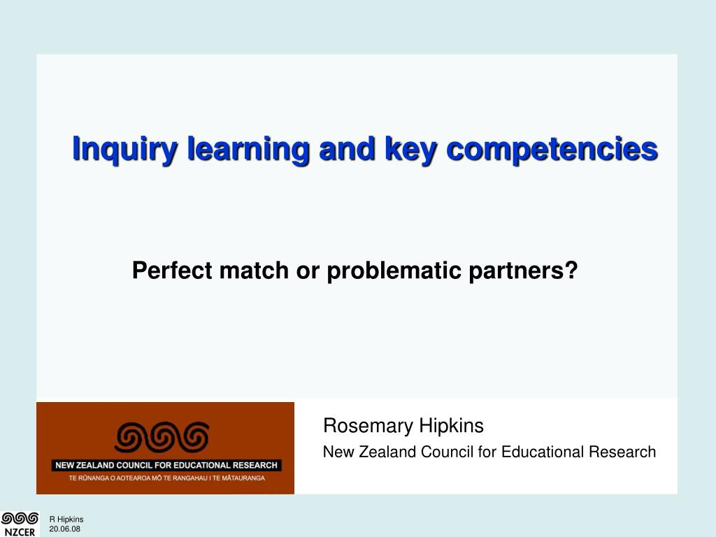 inquiry learning and key competencies l.