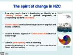 the spirit of change in nzc