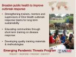 broaden public health to improve outbreak response