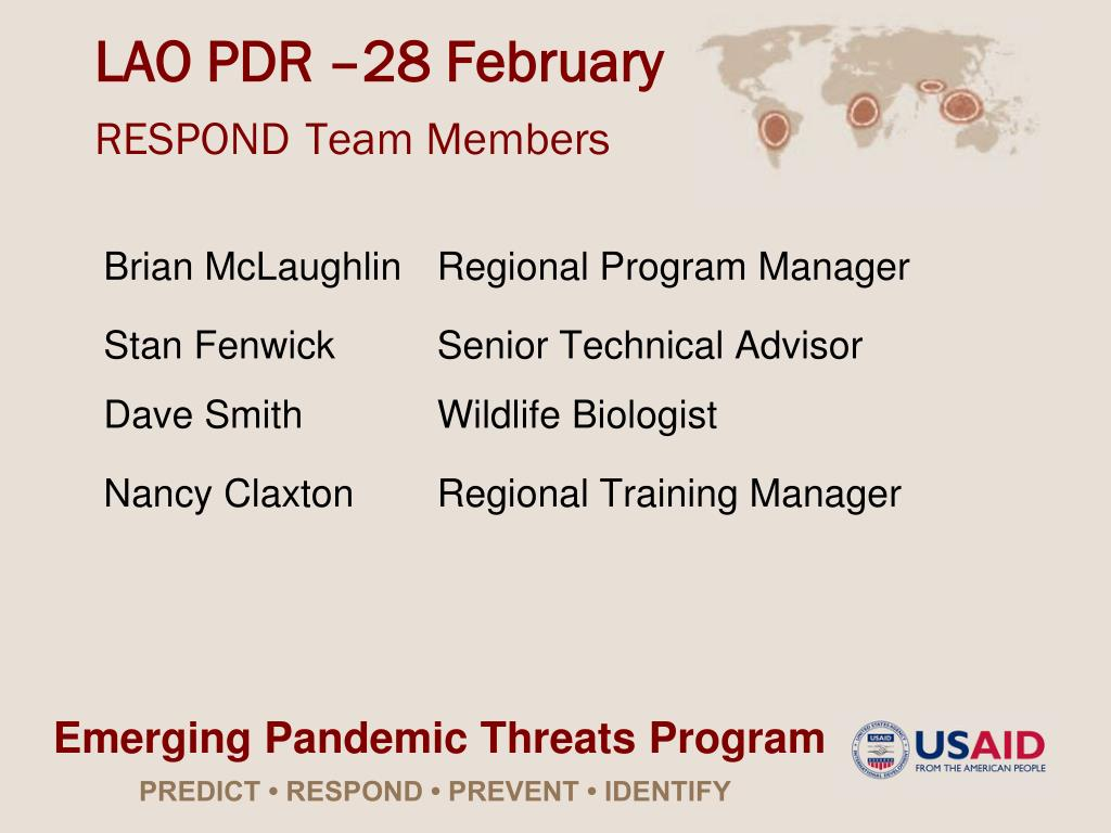 lao pdr 28 february respond team members l.