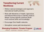 transitioning current workforce