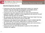 baseline depository services