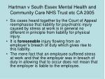 hartman v south essex mental health and community care nhs trust etc ca 2005