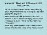 majrowski v guys and st thomas s nhs trust 2006 hl