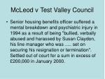 mcleod v test valley council
