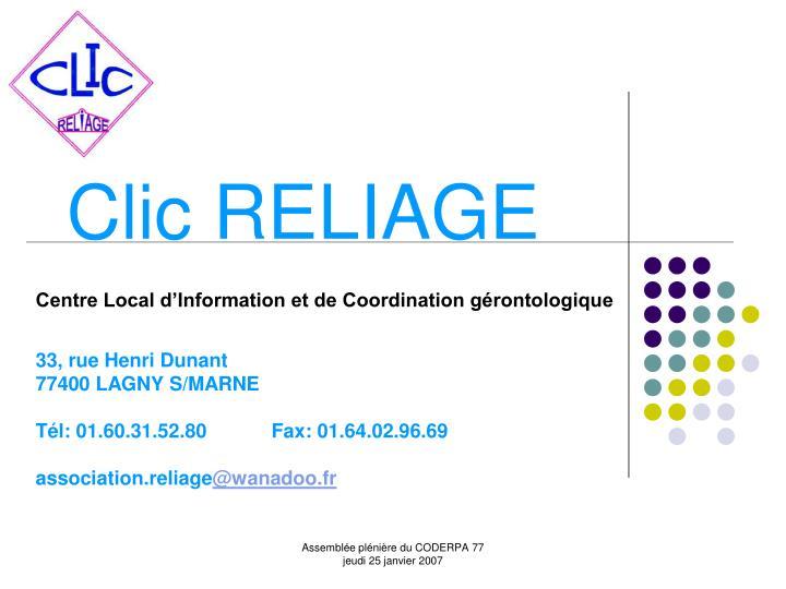 Clic reliage