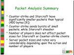 packet analysis summary
