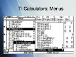 ti calculators menus