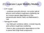 c inversion layer mobility models