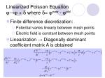 linearized poisson equation where new old