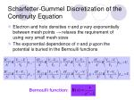 scharfetter gummel discretization of the continuity equation
