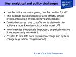 key analytical and policy challenges