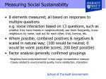 measuring social sustainability