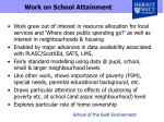 work on school attainment
