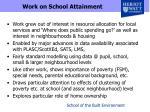 work on school attainment