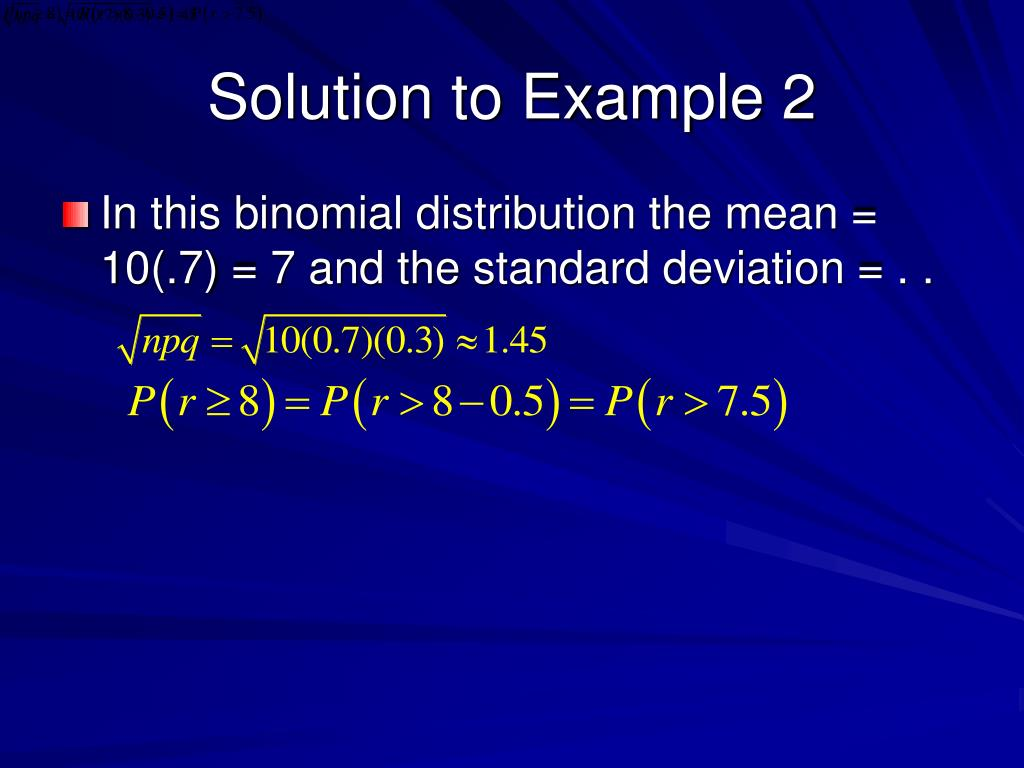 Solution to Example 2