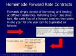 homemade forward rate contracts
