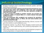 industrial biotechnology