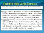 possible high value extracts