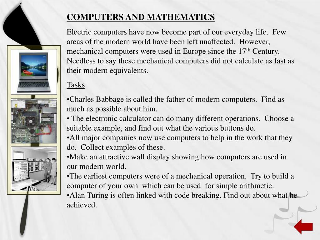COMPUTERS AND MATHEMATICS
