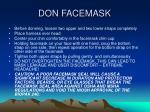 don facemask