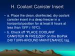 h coolant canister insert