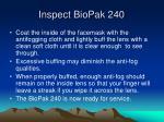 inspect biopak 24016