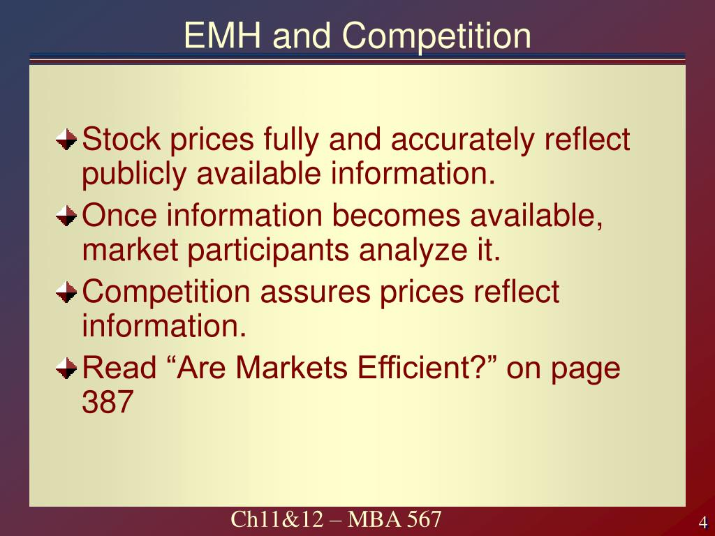 EMH and Competition