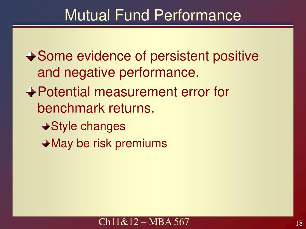 Mutual Fund Performance