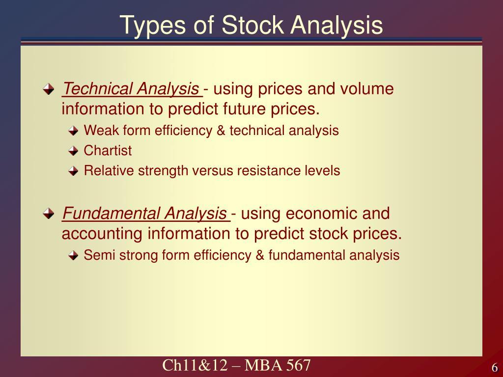 Types of Stock Analysis