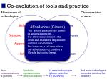 co evolution of tools and practice