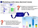 modeling with data derived views