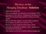mystery of the hanging database solution