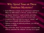 why spend time on these database mysteries