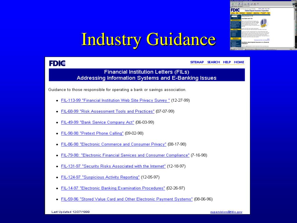 Industry Guidance