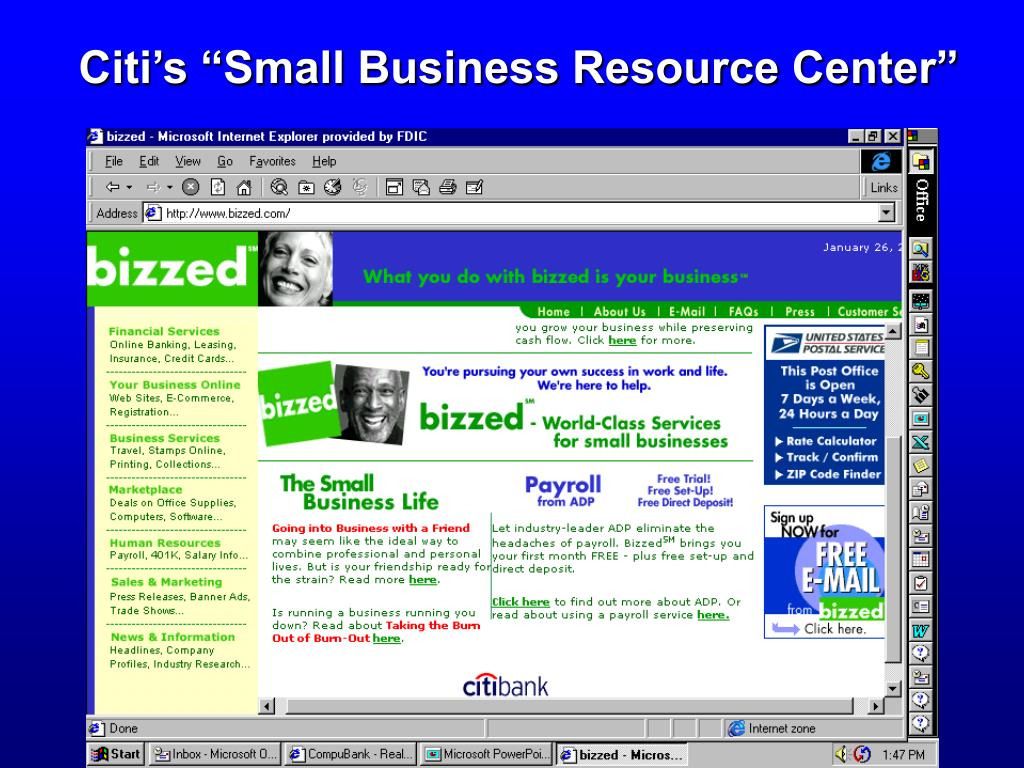 "Citi's ""Small Business Resource Center"""