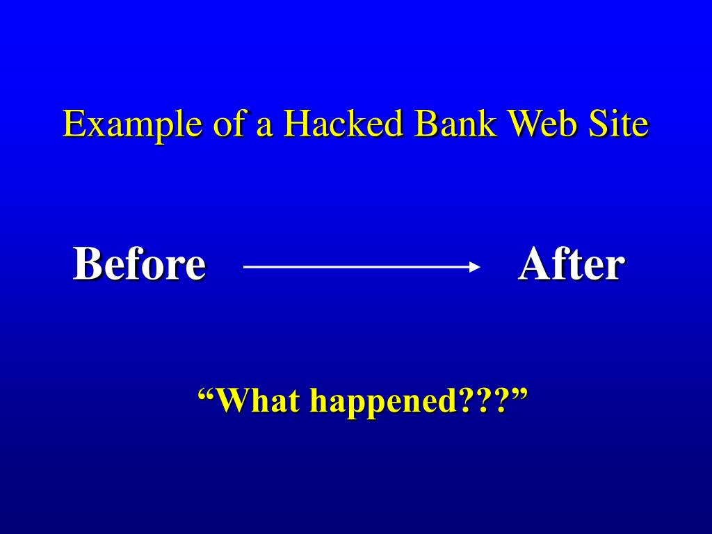 Example of a Hacked Bank Web Site