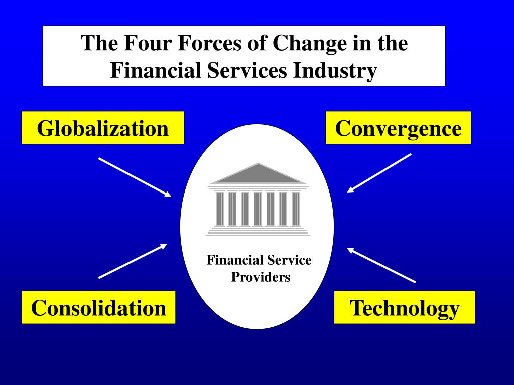 The Four Forces of Change in the Financial Services Industry