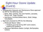eight hour ozone update cont d