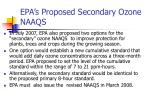 epa s proposed secondary ozone naaqs