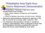 philadelphia area eight hour ozone attainment demonstration
