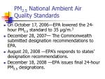 pm 2 5 national ambient air quality standards