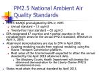 pm2 5 national ambient air quality standards