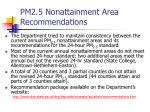 pm2 5 nonattainment area recommendations