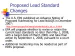 proposed lead standard changes
