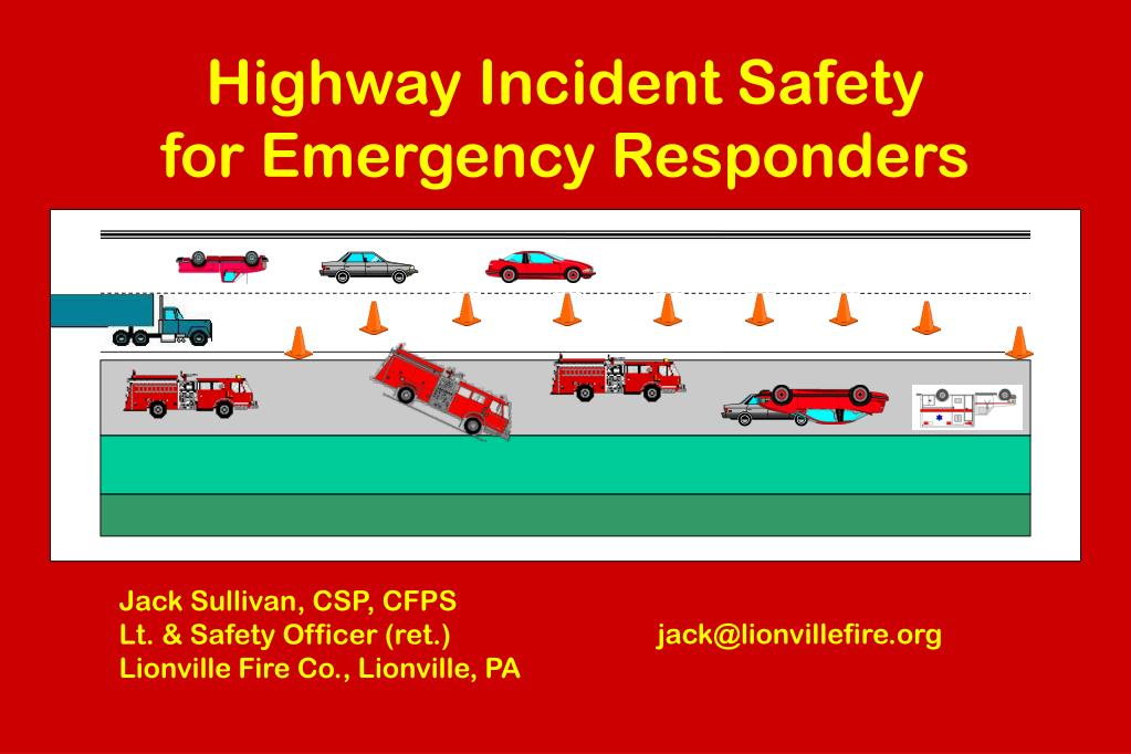 highway incident safety for emergency responders l.